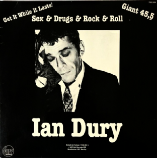 "Ian Dury ‎- Sex & Drugs & Rock & Roll (12"") (VG/G++)"